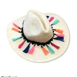 Shiraleah Tassle Banded Straw Hat